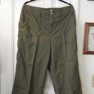 Melissa McCarthy Seven7 Wide Leg Green Jeans L